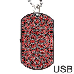Exotic Intricate Modern Pattern Dog Tag Usb Flash (one Side)