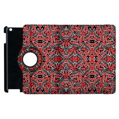 Exotic Intricate Modern Pattern Apple Ipad 2 Flip 360 Case
