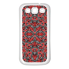Exotic Intricate Modern Pattern Samsung Galaxy S3 Back Case (white)