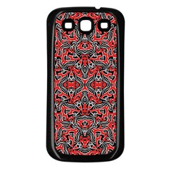 Exotic Intricate Modern Pattern Samsung Galaxy S3 Back Case (black)