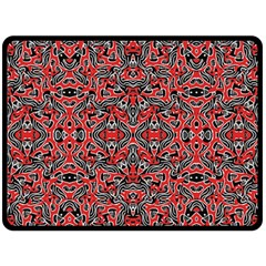 Exotic Intricate Modern Pattern Double Sided Fleece Blanket (large)