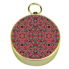 Exotic Intricate Modern Pattern Gold Compasses