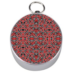 Exotic Intricate Modern Pattern Silver Compasses