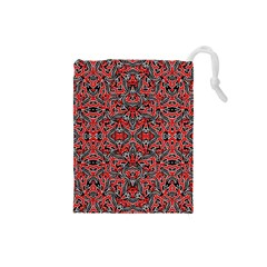 Exotic Intricate Modern Pattern Drawstring Pouches (small)