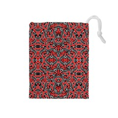 Exotic Intricate Modern Pattern Drawstring Pouches (medium)