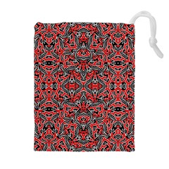 Exotic Intricate Modern Pattern Drawstring Pouches (extra Large)