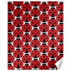 Ladybugs Pattern Canvas 11  X 14
