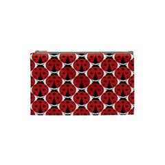 Ladybugs Pattern Cosmetic Bag (small)