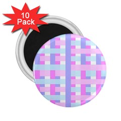 Gingham Nursery Baby Blue Pink 2 25  Magnets (10 Pack)