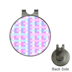 Gingham Nursery Baby Blue Pink Hat Clips With Golf Markers