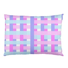 Gingham Nursery Baby Blue Pink Pillow Case