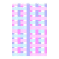 Gingham Nursery Baby Blue Pink Shower Curtain 48  X 72  (small)