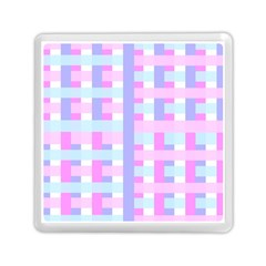 Gingham Nursery Baby Blue Pink Memory Card Reader (square)