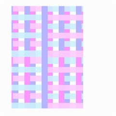 Gingham Nursery Baby Blue Pink Large Garden Flag (two Sides)