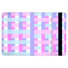 Gingham Nursery Baby Blue Pink Ipad Air Flip