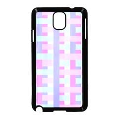 Gingham Nursery Baby Blue Pink Samsung Galaxy Note 3 Neo Hardshell Case (black)