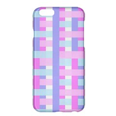 Gingham Nursery Baby Blue Pink Apple Iphone 6 Plus/6s Plus Hardshell Case