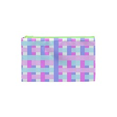 Gingham Nursery Baby Blue Pink Cosmetic Bag (xs)