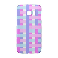 Gingham Nursery Baby Blue Pink Galaxy S6 Edge