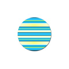Stripes Yellow Aqua Blue White Golf Ball Marker (10 Pack)