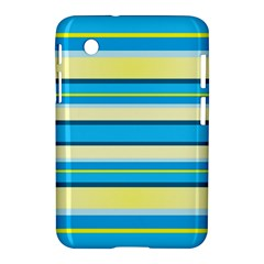 Stripes Yellow Aqua Blue White Samsung Galaxy Tab 2 (7 ) P3100 Hardshell Case