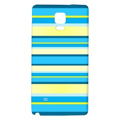 Stripes Yellow Aqua Blue White Galaxy Note 4 Back Case