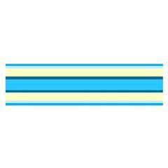 Stripes Yellow Aqua Blue White Satin Scarf (oblong)