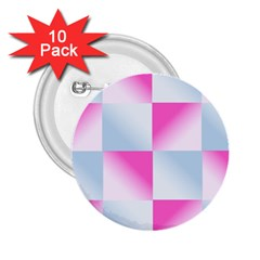 Gradient Blue Pink Geometric 2 25  Buttons (10 Pack)