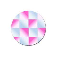 Gradient Blue Pink Geometric Magnet 3  (round)