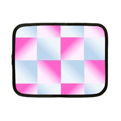 Gradient Blue Pink Geometric Netbook Case (small)
