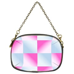 Gradient Blue Pink Geometric Chain Purses (one Side)