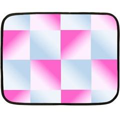 Gradient Blue Pink Geometric Double Sided Fleece Blanket (mini)