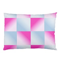Gradient Blue Pink Geometric Pillow Case (two Sides)