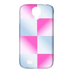 Gradient Blue Pink Geometric Samsung Galaxy S4 Classic Hardshell Case (pc+silicone)