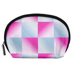 Gradient Blue Pink Geometric Accessory Pouches (large)