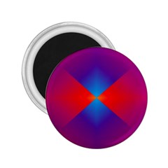 Geometric Blue Violet Red Gradient 2 25  Magnets