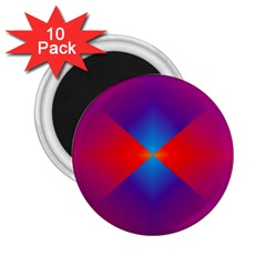 Geometric Blue Violet Red Gradient 2 25  Magnets (10 Pack)