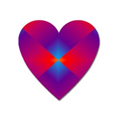 Geometric Blue Violet Red Gradient Heart Magnet