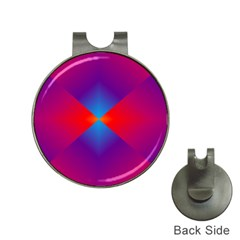 Geometric Blue Violet Red Gradient Hat Clips With Golf Markers