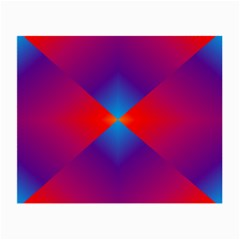 Geometric Blue Violet Red Gradient Small Glasses Cloth (2 Side)