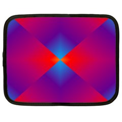 Geometric Blue Violet Red Gradient Netbook Case (large)