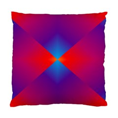 Geometric Blue Violet Red Gradient Standard Cushion Case (two Sides)