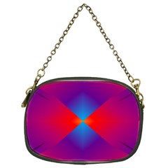 Geometric Blue Violet Red Gradient Chain Purses (two Sides)