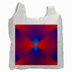 Geometric Blue Violet Red Gradient Recycle Bag (two Side)