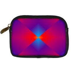 Geometric Blue Violet Red Gradient Digital Camera Cases