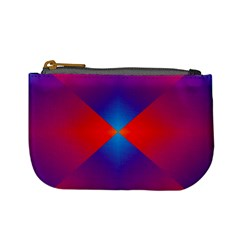 Geometric Blue Violet Red Gradient Mini Coin Purses
