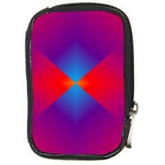 Geometric Blue Violet Red Gradient Compact Camera Cases