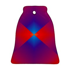Geometric Blue Violet Red Gradient Bell Ornament (two Sides)