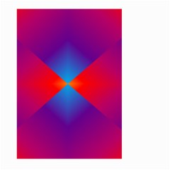 Geometric Blue Violet Red Gradient Large Garden Flag (two Sides)