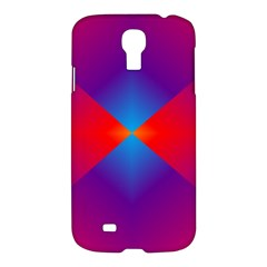 Geometric Blue Violet Red Gradient Samsung Galaxy S4 I9500/i9505 Hardshell Case